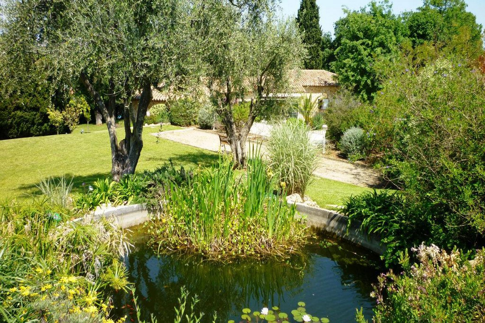 La ch vre d 39 or jardin biot la lezardiere - Arrosage automatique maison ...
